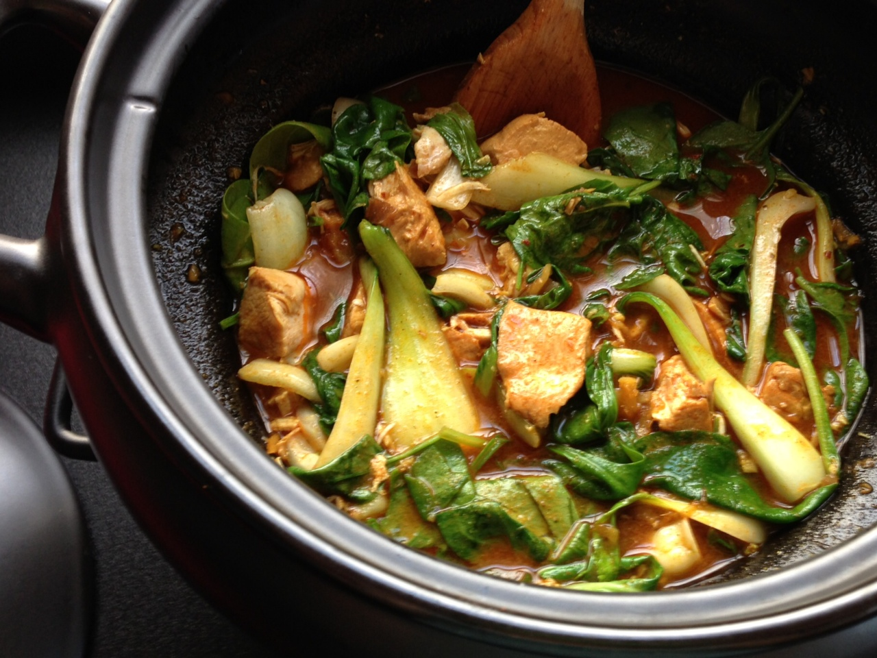 A Goan Chicken Curry Fish Is Traditional Hot Pot Honey