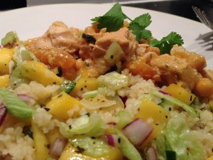 Chicken skewer on Bulgar rice salad 3
